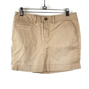 Old Navy   Khaki Tan Casual Mini Skirt Womens 2